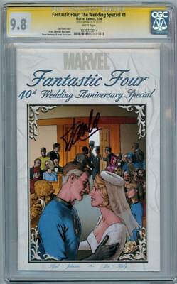 Fantastic Four The Wedding Special #1 Cgc 9.8 Signature Series Signed Stan Lee
