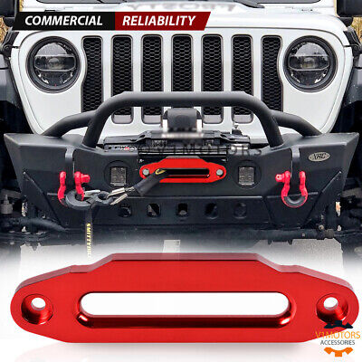 """10"""" Hawse Fairlead CNC Billet Aluminum Red for Synthetic Winch Rope 15000 LBs"""