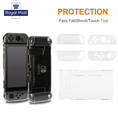 Clear NEW Shockproof Hard Protective Case Cover For Nintendo Switch Console Game