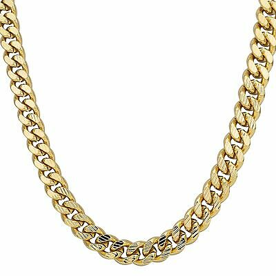24 inch 18K Gold Filled Pattern Cuban Chain Bark Heavy Chunky Solid new bling so