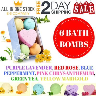 Bath Bombs Natural Essential Oil For Bath Moisturize Gift Christmas Gift 4 Pack