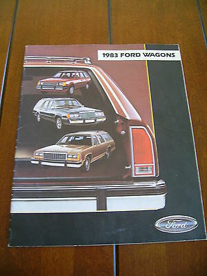 1983 Ford Wagons  Escort - Ltd - Country Squire  Dealer Sales Brochure