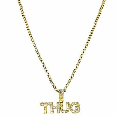 9ct Thug Icy gold plated Pendant cz boys mens bling iced out hip hop cheap fake
