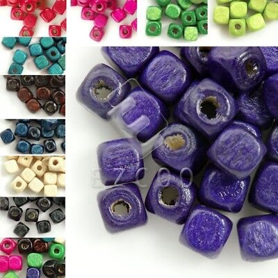 30g(150pcs approx) Wood Spacer Beads Cube 6x6mm Craft Jewelry Findings WBSET5