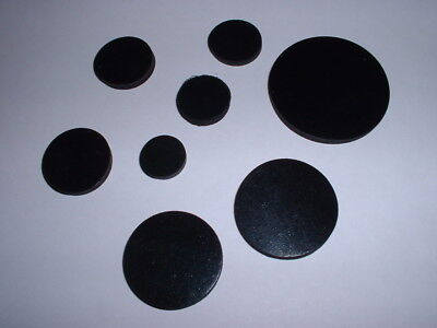 3Mm Thick Multi Use Flat Round Epdm Rubber Disc Buffer Stop Damper All Diameters
