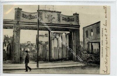 (Gb3735-506) Thessaloniki, After The Fire, Greece 1918 VG Army Post Office