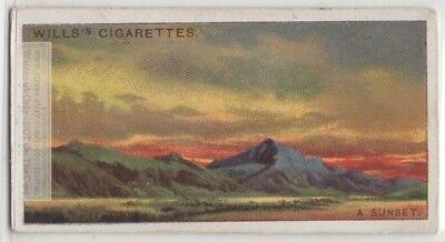 Sunset Colors Caused By Scattering Of Light Rays  95+ Y/O Trade Ad Card