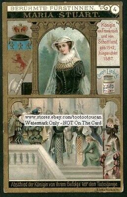 England History Mary Stuart Queen Of Scots c1895 Trade Ad Card