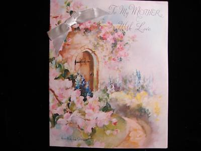 """Vintage """"to My Mother With Love - Nina B. Rollins!!"""" Mother's Day Greeting Card"""