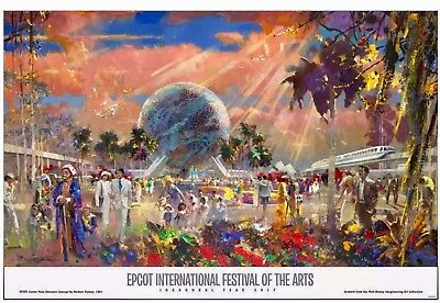 Disney Epcot 2017 Festival Of The Arts Official Poster Print Art Inaugural Year