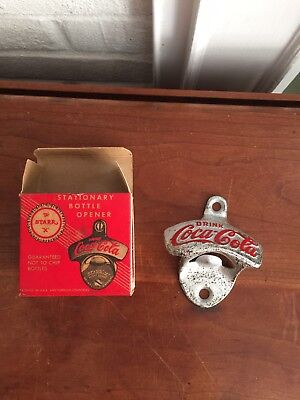 Vintage NOS Wall Mounted The Starr X Advertising Drink Coca Cola Bottle Opener