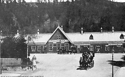 PERTHSHIRE - The Railway Station CALLANDER - superbly animated