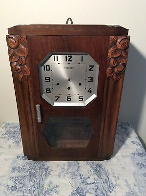 Vintage French Vedette 5 Rods & Hammers Chiming Wall Clock (3059)
