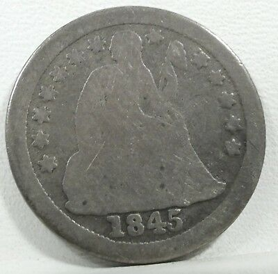 1845-O Liberty Seated Dime AG Silver 10c