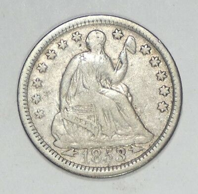 1853 Liberty Seated Half Dime w/Arrows at the Date FINE Silver 5c