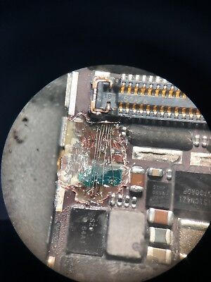 iPhone 6 PCB tracks damaged by wrong screw fix- no display after LCD replacement