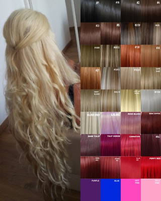Hair Extensions Clip in Hair Extension real Human Feel Dark Brown Light Blondes