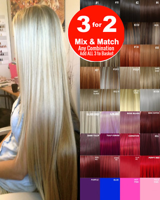 Hair Extensions Clip in Hair Extension real Human Feel Jet Black Bleach Blondes