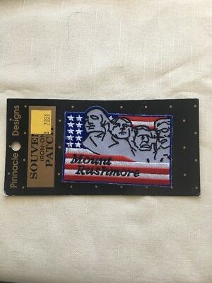 Vtg Mount Rushmore Embroidered Souvenir Patch Flag South Dakota New on Card