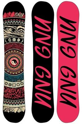GNU Ladies Choice Women's Hybrid Camber Snowboard, 148.5cm 2019