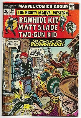 1973 Marvel Comics Group The Mighty Marvel Western-The Rawhide Kid No.30