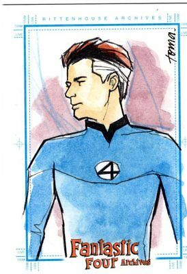 Marvel Fantastic Four Archives -  Color Sketch Card by Toma - Reid Richards