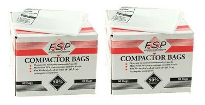 Whirlpool 18-Inch Plastic Compactor Bags with Odor Remover, 120-Pack