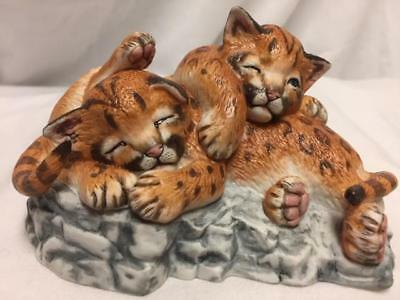 "Lenox ""played Out"" Cougar Cubs Figurine 1988"