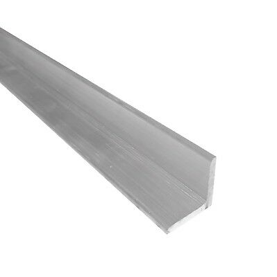 "1"" x 1"" Aluminum Angle 6061, 8"" Length, T6511 Mill Stock, 1/8"" Thick"