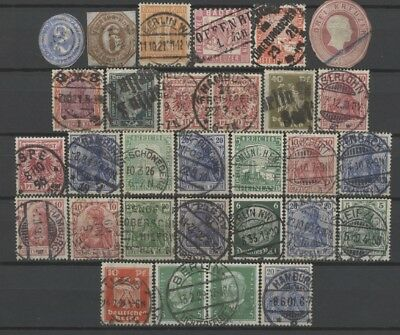 No: 60863 - GERMANY - LOT OF 30 OLD STAMPS - SOME NICE CANCELS!!