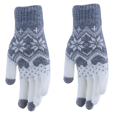 Men Women Knitted Winter Warm Gloves Phone Touch Screen Full Finger Mitten B