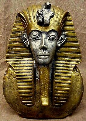 Ancient Egyptian Classical Mask of King Tut Statue Sculpture Reproduction