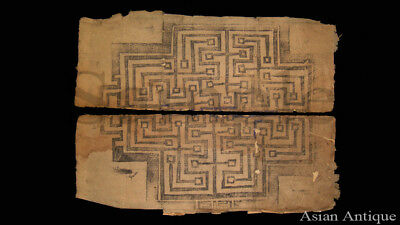 Mongolian Tibetan Buddhist  Manuscript Leaves Painting Drawing  Mongolia #А3482