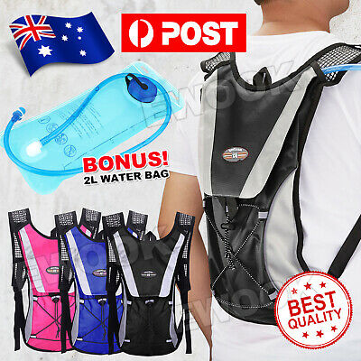 Hydration Pack Water Backpack 2L Bladder Bag Cycling Bicycle Bike Hiking Climbin