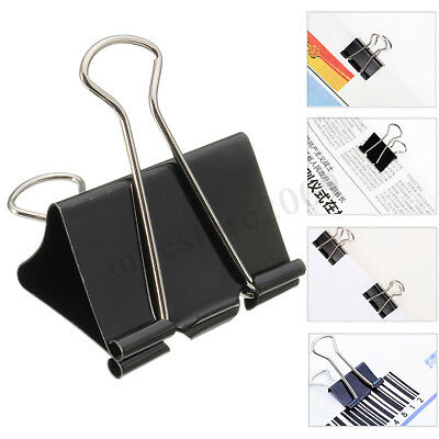 12PCS Metal Binder Clips File Paper Clip Photo Stationary Office School Supplies
