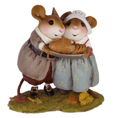 Wee Forest Folk PILGRIMS POTLUCK,  WFF# M-593, Thanksgiving Mouse