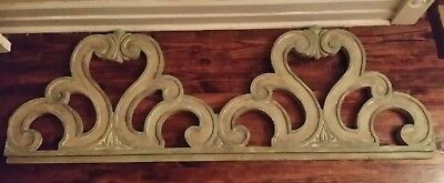 Antique Window Pediment House Header Old Vintage  DOUBLE or CUT 2