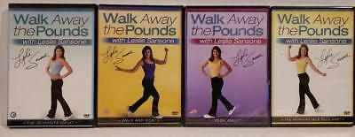 4 NEW Leslie Sansone Walk Away Pounds DVD Workouts +FREE Health Fitness Bonuses!