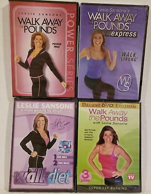 NEW 7-ON-4 Leslie Sansone 1, 2 & 3 MILE Walk Away Pounds Workouts +FREE Bonuses!