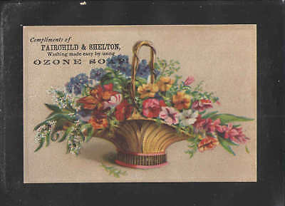 1890s FAIRCHILD & SHELTON WASHING MADE EASY OZONE SOAP VICTORIAN TRADE CARD