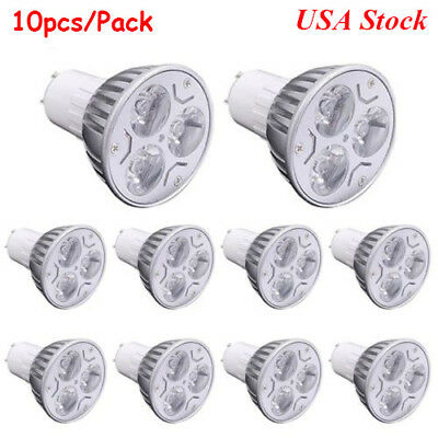 10pcs GU10 Dimmable LED Spotlight 3W/4W/5W 110V LED Downlight Recessed Light