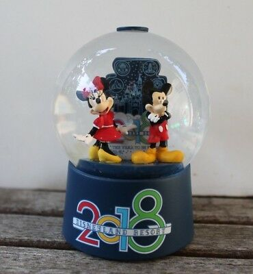 Disney Parks Disneyland 2018 The Year To Be Here Snow Globe Glass NEW