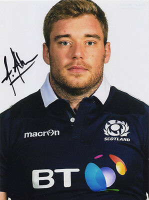 Alex Allan, Glasgow Warriors & Scotland rugby union, signed 8x6 inch photo. COA.