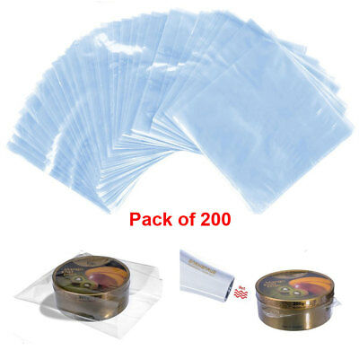 200 Pcs Waterproof POF Heat Shrink Wrap Bags for Soaps Bath Bombs and DIY Crafts