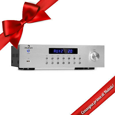 Amplificatore Stereo Audio Bluetooth USB Radio FM 4 zone Hi fi 5x80W RMS