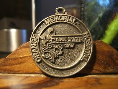 "1987 ORANGE MEMORIAL HOSPITAL NEW JERSEY ""CARE FARE""  Medal  1957- 1987"
