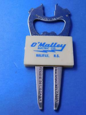 Golf Tool Divot Repair Vintage Beer Bottle  Opener O'malley Electric Halifax Ns