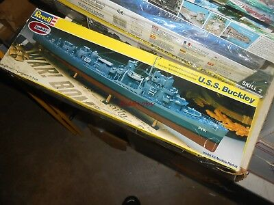 Vintage Revell USS Buckley Model Kit Unstarted in Box 1/248