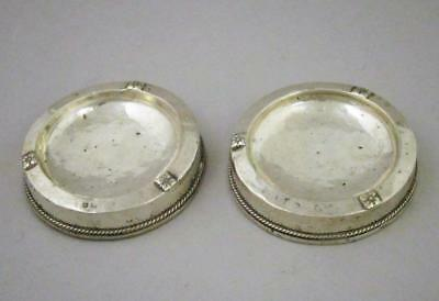 Matched Pair Of Vintage Art Deco Sterling Silver Ashtrays 1925