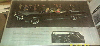 1963 Pontiac Bonneville Black Automobile Original Ad 13 X 20 Inches